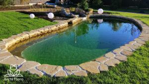 Пленка для пруда 1мм зеленая в пруду ПВХ