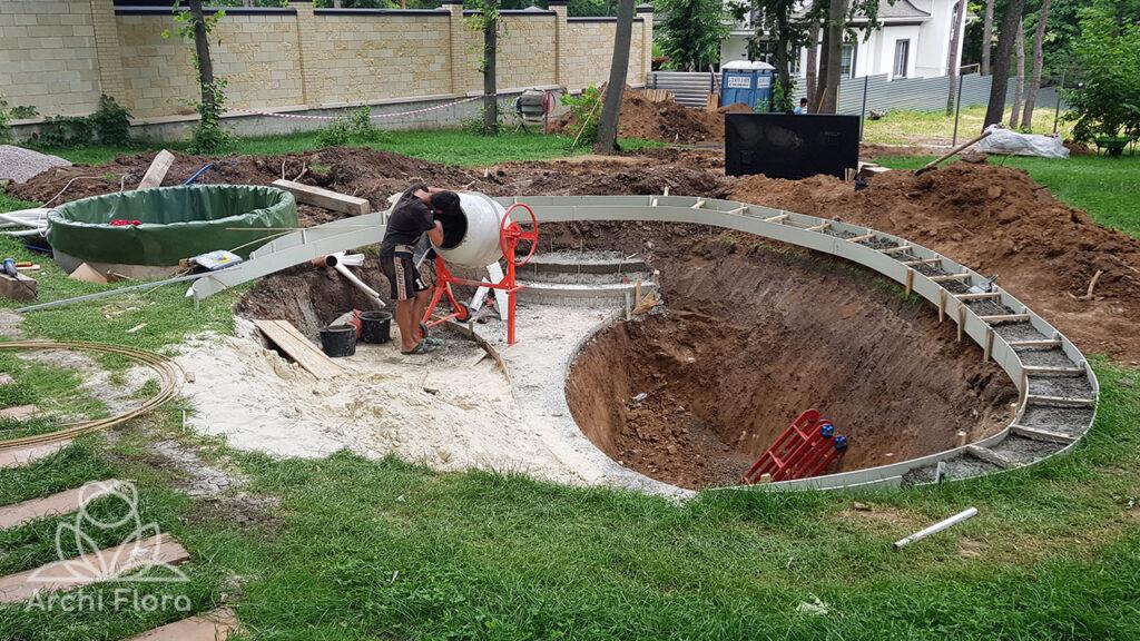 Копаем пруд в Парк Хаусе